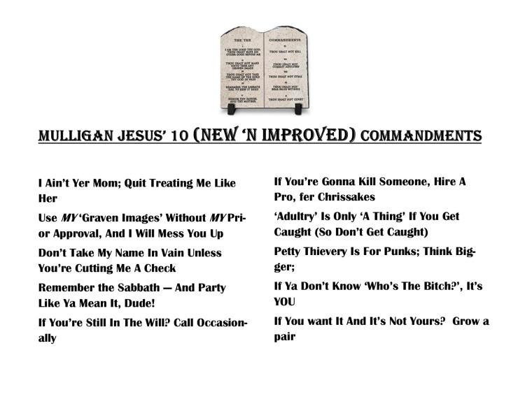 MJ's 10 Commandments
